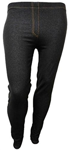NEW LADIES PLUS SIZE DENIM STRETCH JEGGINGS WOMENS SKINNY JEANS 12-28 Black