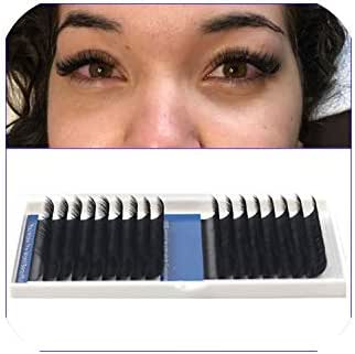 1 Case 16 Lines Individual Eyelash Extensions,Fake Eye Lashes,Natural Silk Mink False Eyelashes 100% Handmade Cilias 0.03Mm,B,0.03Mm,14Mm