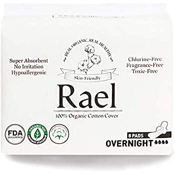 Amazon Com Rael Certified Organic Cotton Menstrual