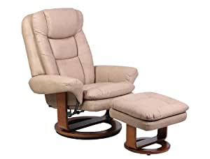 Swivel Recliner and Ottoman Color: Stone