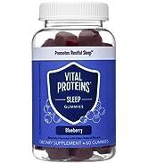 Vital Proteins Sleep Gummies, 2mg Melatonin, L-Theanine, Vitamin B6, Supports Healthy and Restful...