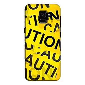 Cover It Up - Caution Tapes Galaxy A7 2018Hard Case