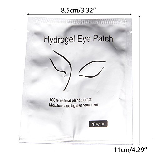 Thobu Under Eye Gel Pad Lint Free Patches for Eyelash Lot Beauty Eyelash Pad Gel Patch Lint Free Lash Extension Eye Mask