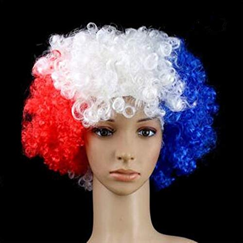 Halloween Colorful Fans Explosive Head Wig Dance Bar Party Dress Performance Props Funny Clown Wig Caps Party Hats France
