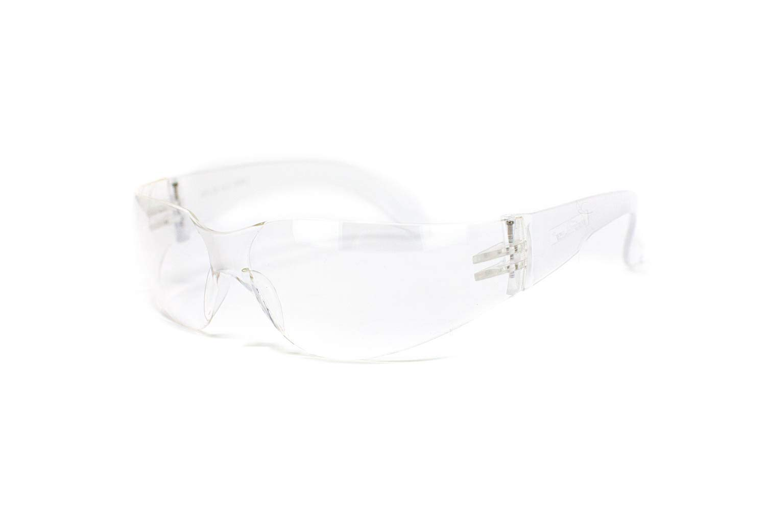BISON LIFE Safety Glasses | One Size, Clear Protective Polycarbonate Lens, Clear Temple, 12 per Box (Case of 12 boxes, 144 pairs total) by BISON LIFE (Image #3)