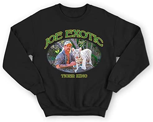 Sanfran Clothing Joe Exotic The Tiger King Retro 80s Cat Rescue TV Show Series Jumper Sweater