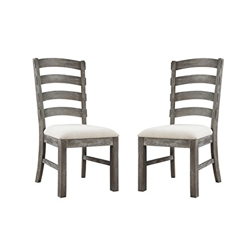 Emerald Home Paladin Rustic Charcoal Gray Dining Chair with