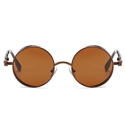 de redondo gótico espejo hombres mujeres vintage Juleya de Steampunk gafas sol para C1 gafas UV400 retro metal wEYUpxpq