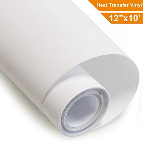 Heat Transfer Vinyl Roll HTV - White - 12''x10' by Arhiky