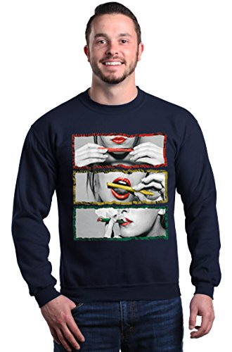 Shop4Ever Rasta Outline Smoking Blunt Crewneck Sweatshirts ()