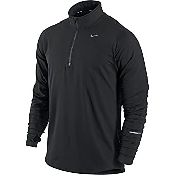 Amazon.com: Nike Men's Element Half Zip Running Top, Black/Black ...