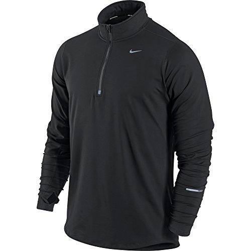 Nike Men's Element Half Zip Running Top, Black/Black, XL