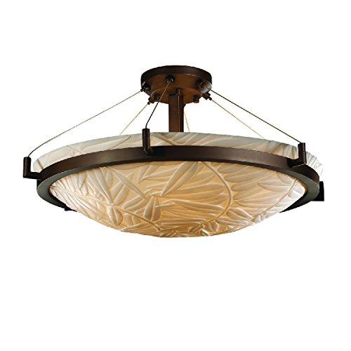 Justice Design Group Lighting PNA-9682-35-BMBO-DBRZ-LED5-5000 Porcelina-Ring 27