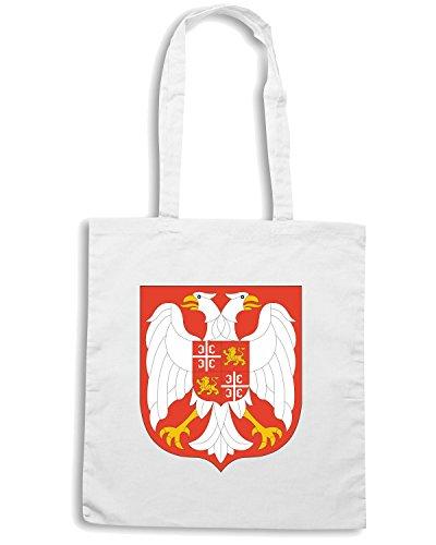 T-Shirtshock - Bolsa para la compra TM0139 Yugoslavia citta Blanco