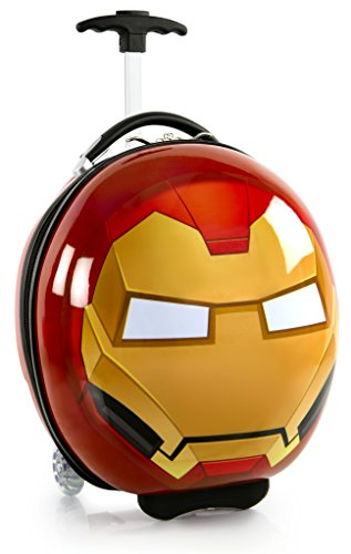 Marvel Avengers Circle Shaped 16 Inch Hardside Luggage Suitcase for Kids [Iron Man] -