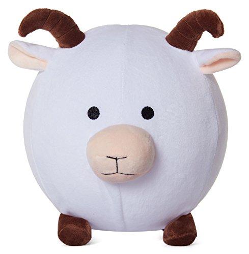 (Balloon Skinz Fabric Covered Balloon - Plush Toy Stuffed Animal Ball for Kids (Sheep/Goat))