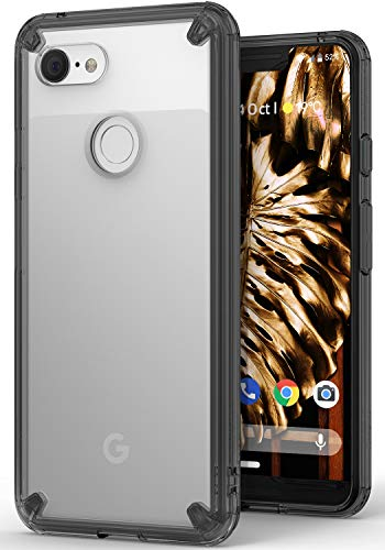 transparent pc and tpu bumper case for pixel 3 xl