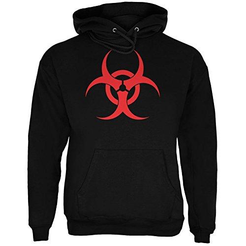 Zombie Biohazard Symbol Black Adult Hoodie - X-Large