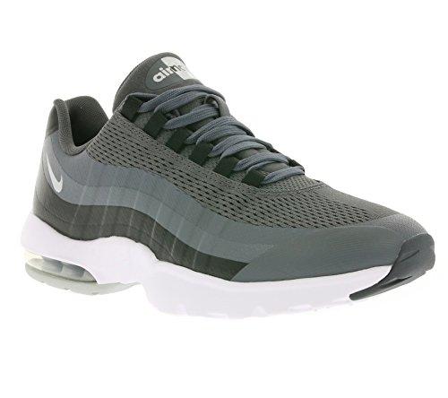 Nike Womens Air Max 95 Scarpe Da Ginnastica Ultra Running 749212 Scarpe Da Ginnastica Scarpe Grigio Scuro Metallizzato Argento Nero Bianco 004