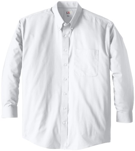 Cutter & Buck Men's Big-Tall Epic Easy Care Fine Twill Shirt, White, 5XB by Cutter & Buck (Image #1)