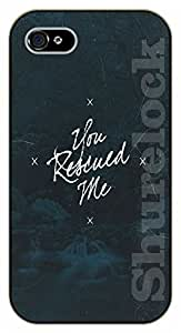 iPhone 5C Bible Verse - Stars. You rescued me - black plastic case / Verses, Inspirational and Motivational