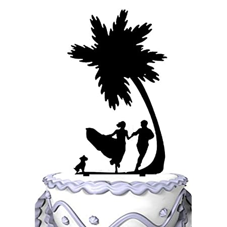 410O%2B3-%2BBML._SS450_ The Best Palm Tree Wedding Cake Toppers