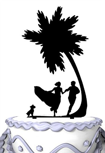 410O%2B3-%2BBML The Best Palm Tree Wedding Cake Toppers