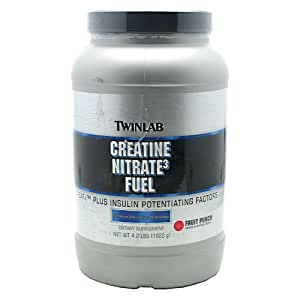 TwinLab Creatine Nitrate3 Fuel - Fruit Punch, New Wt. 4.2 lbs (1920 g)