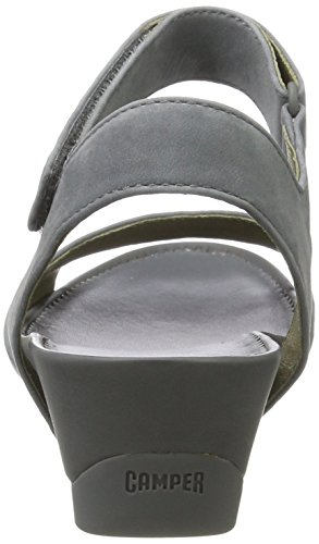 Camper Supersoft Negro/Micro Negro, Sandali Donna Grigio (Medium Grey 013)
