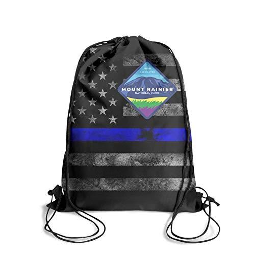 Mount Rainier National Park Unisex Drawstring Tote Personalized Waterproof Stadium Sports Backpack