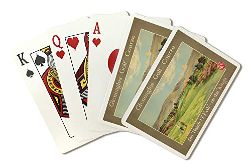 Gleneagles Golf Course Vintage Poster (artist: Anonymous) UK c. 1928 (Playing Card Deck - 52 Card Poker Size with Jokers)