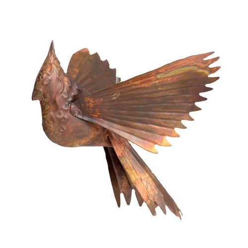 - Ancient Graffiti Hanging Flamed Copper Cardinal Outdoor Decor