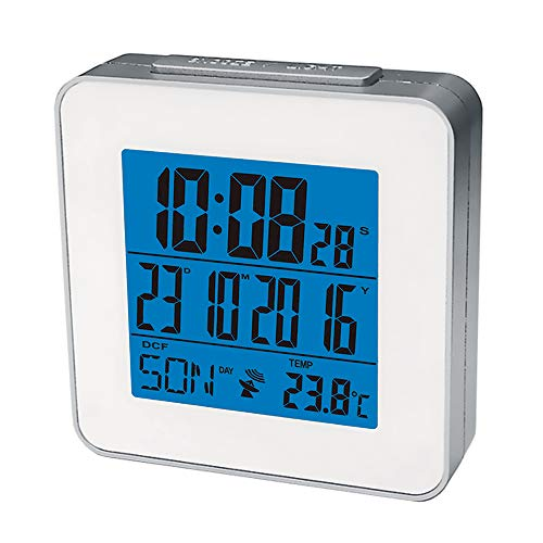 DYKIE Digital Indoor Weather Stations with Thermometer Automatic Adjustable Time by Global Radio Controlled Clock