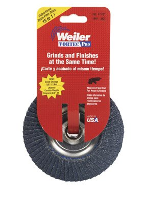 Weiler Corporation 30827 Vortex Pro Abrasive Nutted Flap Disc from Weiler Corporation