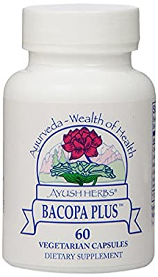 Ayush Herbs Bacopa Plus Herbal Supplement, 60 Count