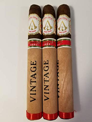 Americ Empire (Fresh Smoking Cigars to Buy on Sale. Tobacco Pure to Smoke from Honduras. Tabacos para Fumar). Straight from Factory 100% Hand Made. Special Gift. (Pack of 3) (Vintage 2002) ()