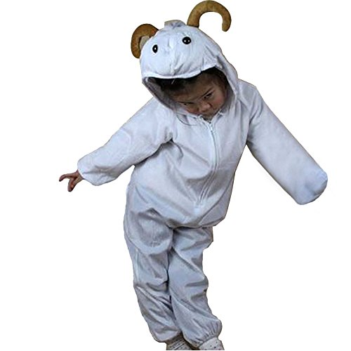 Moolecole Halloween Christmas Kids Costume Toddler Baby Animal Costume Sheep M (Sheep Costume For Kids)