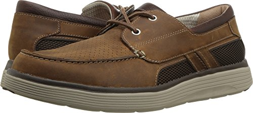 CLARKS Mens Un abode Step Casual Loafer, Dark Tan Leather, 11 D(M) US Clarks Moccasin