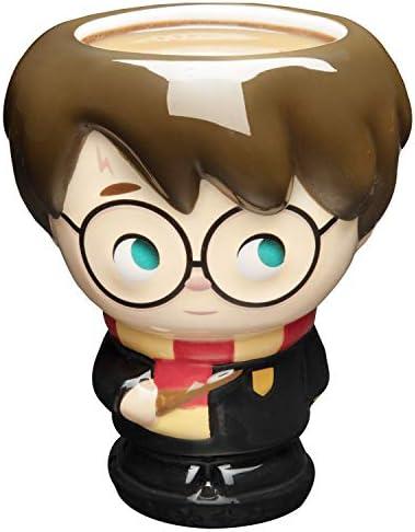 Harry Potter Coffee Mug, 16 Oz - Harry Figural Kawaii Goblet Cup Design - Ceramic, No Handle - Cupful of Cute by Jerrod Maruyama