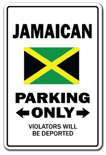 Amazon Com Signmission Jamaican Parking Sign Indoor Outdoor