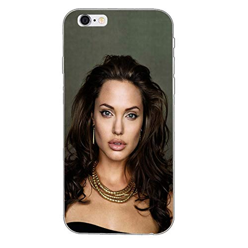 734cdcdce Grey Angelina Jolie iPhone 7 Case, American Actress iPhone 8 Cover Lara  Croft Filmmaker Activist