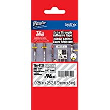 """Brother 3/8"""" (9mm) Black Print on Clear Extra Strength Adhesive P-touch Tape for Brother PT-1230PC, PT1230PC Label Maker"""