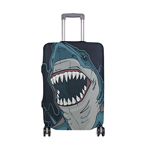 Most Dangerous Sharks - hengpai Dangerous Shark Travel Luggage Protector Suitcase Cover XL 29-32 in