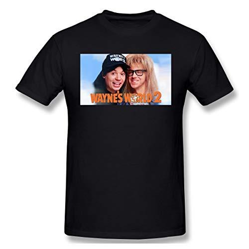 BTBANIN Wayne's World 2 Man Simple T Shirt M Black