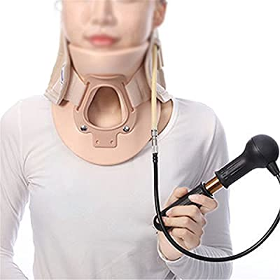 Denshine Inflatable Cervical Collar Traction Neck Brace Support Strap Therapy Device Neck Massager