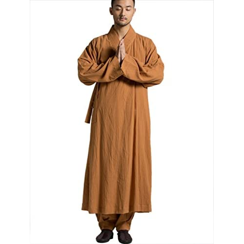 2019 professional differently search for authentic Katuo Mens Orange Robe Spring Autumn Traditional Gown S-3xl ...