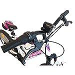 Bicicletta-da-ragazza-Flamingo-Attimover-telaio-forcella-telescopica-6-velocit-per-maniglia-girevole-mountain-bike-da-20-completamente-sospesa-bianco-e-fucsia