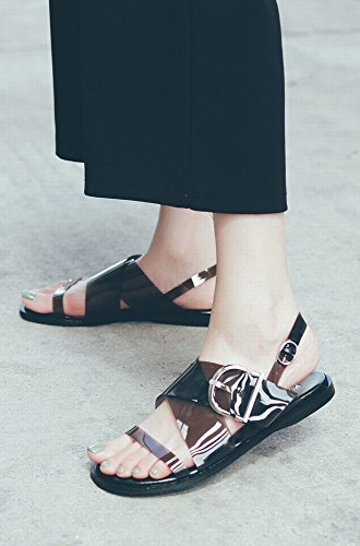Transparent Mesh Noir Crystal Boucle Summer Metal 37 Rome Chaussures Chaussures Red Plates DIDIDD qnwOPIYn