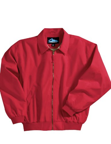 Achiever Microfiber Jacket with Poplin Lining, Color: Red, Size: X-Large ()