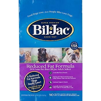BIL-JAC 319061 Reduced Fat Dry Food for Dogs, 30-Pound